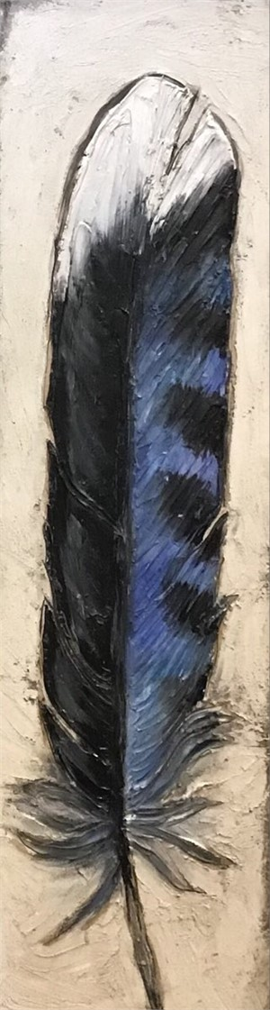 Blue Jay Feather II, 2019