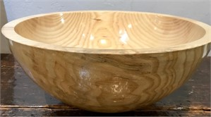 Ash Bowl With Walnut Base