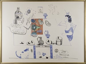 Matisse Postcard Ed: 80/100 - Six Drawings Tables, 1970