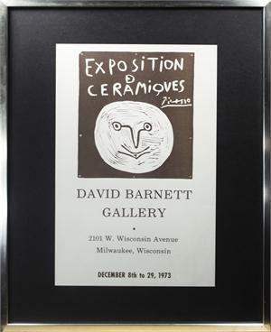 Exposition de Ceramiques, David Barnett Gallery, 1973