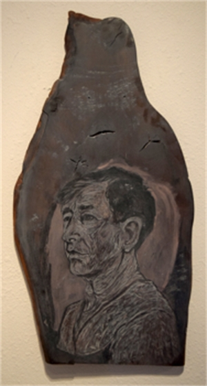 Self Portrait (woodblock)