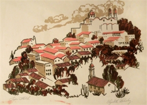Taxco Sketch (Mexican Town), 1948