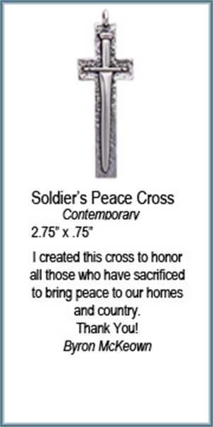 Pendant - Soldiers Peace Cross - 8359, 2019