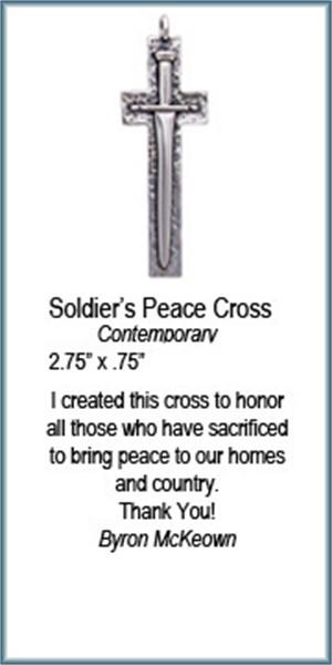 Pendant - Soldiers Peace Cross - 8359, 2019
