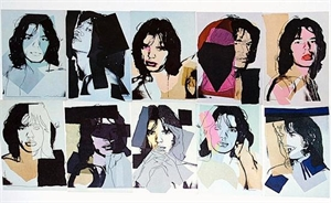Mick Jagger suite of 10, 1975