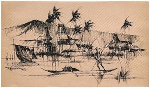 Untitled (Fishing Scene), 1962