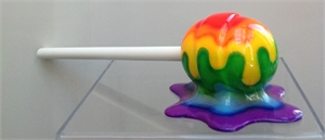 """The Sweet Life"" Small Rainbow Horizontal Lollipop, 2019"
