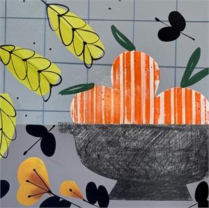 Orange with Yellow Tulips, 2020