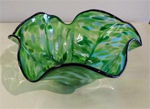 Bowl Scallop - Malachite