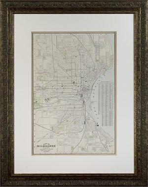 Map of Milwaukee, 1895