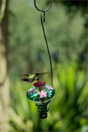 Hummingbird Feeder - Mini Blossom Botanic - Handpainted, 2019