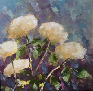 Five White Hydrangeas, Cashiers, NC