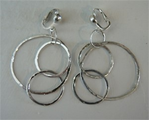 Sterling Clip Circle Earring