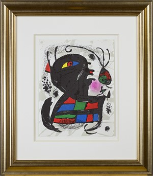 "Original Lithograph V from ""Miro Lithographs III, Maeght Publisher"", 1977"
