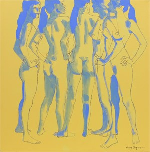 Multiple Nude (Yellow and Blue)