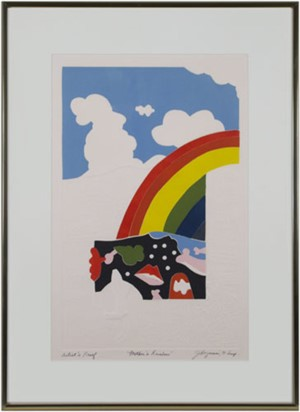Mother's Rainbow, A.P. signed, 1971