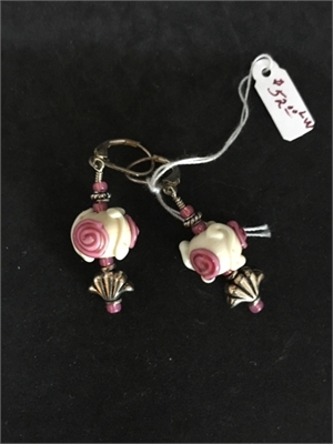Earrings - Lampwork Beads & Sterling  #133, 2020