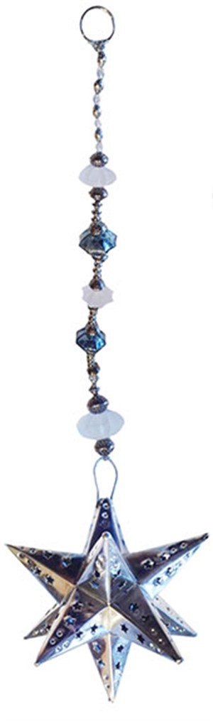 Patio Jewel - Tin Star With Crystal Blue, 2019
