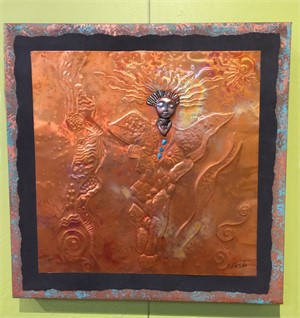 Copper Wall Hanging, Assorted Designs, 2019
