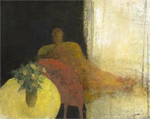 Yellow Table by David Brayne R.W.S.