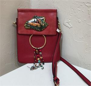 Purse - Shoulder Bag Red #165, 2019