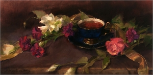 "PAMELA C NEWELL, ""Blossoms and Tea"""