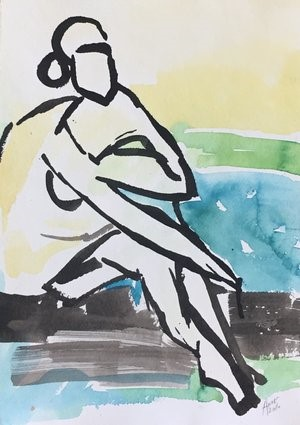 Figure Drawing #32, 2018