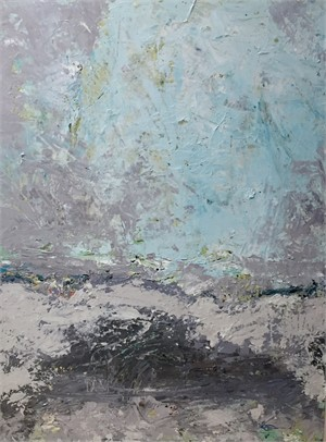 Composition In Aqua and Gray , 2018