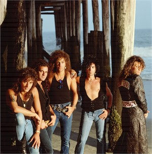 88130 Bon Jovi (Band) On the Beach Color, 1988