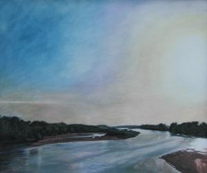 Kansas River at Topeka, Summer Evening