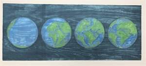 """Untitled """"four earths"""" 2/12, 2019"""