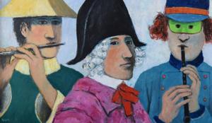 Three Revelers, 1996