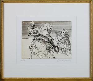 Don Quichotte De La Manche-Don Quichotte & Sancho Panza on Horseback D. Quichotte w/Spear (68/200), 1980