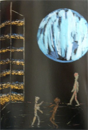 The Blue Moon Picture (Painted on the Blue Moon Day 93), 1993