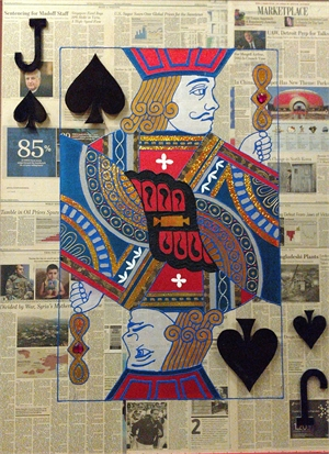 """Jack Of Spades"" Poker Cards on Wall Street Journal, 2017"