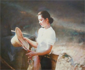 Yu Tan with Straw Hat