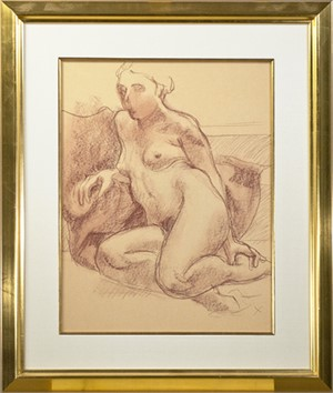 "Seated Nude with ""X"", c. 1974"