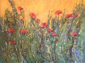 Sunshine on the Poppies (Italian Poppies)