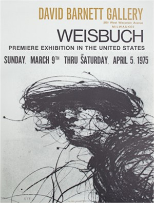 David Barnett Gallery Premiere Exhibition Poster, signed, 1975