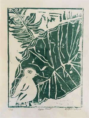 Green Palm Monoprint 1/20 (SPECIAL PRICING), 2020