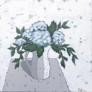 Hydrangeas In Pottery, 2019