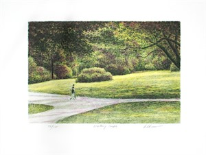 Walking Couple by Harold Altman