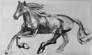 Black And White Horse, 2019
