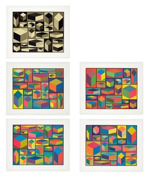 Distorted Cubes Portfolio (5) (7/8), 2001