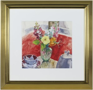 Vase of Flowers & Tea Cup, 1968