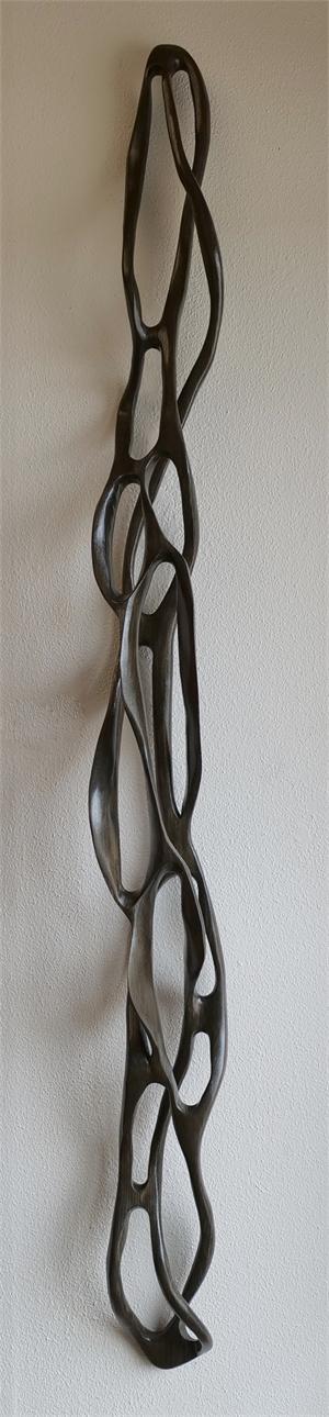Charcoal Linear Loop II