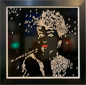Audrey Hepburn - Black Background