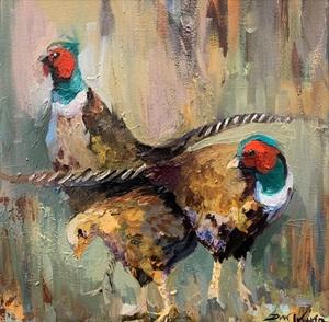 Keeping Watch - Pheasants by Dirk Walker