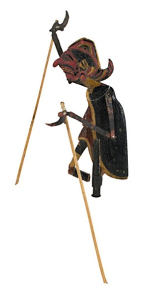 Flat Wooden Puppet (male), 19th C.