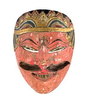 Mask (salmon colored face-slanted eyes), 19th Century